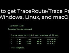 How to get traceroute/Trace Path in Windows, Linux, and macOS